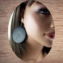 Boucles d'oreilles rond en bois