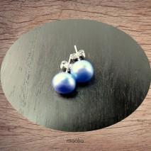 Boucles d'oreilles perle de culture 7-8 mm couleur choix