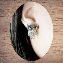 Boucles d'oreilles chouette corps cristal