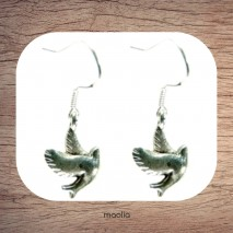 Boucles d'oreilles colombe