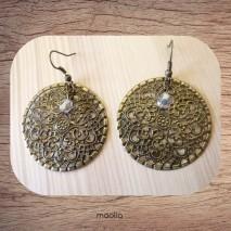 Maolia - Boucles d'oreilles ronde filigrané