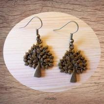 Maolia - Boucles d'oreilles arbre harmonieux