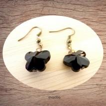 Maolia - Boucles d'oreilles papillon cristal noir