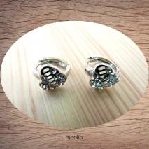 Maolia - Boucles d'oreilles petit coeur cristal