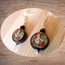 Maolia - Boucles d'oreilles céramique noire