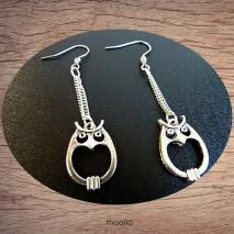 Maolia - Boucles d'oreilles chouettes et chaines