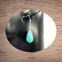 Boucles d'oreilles en turquoise forme goutte