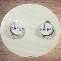 Boucles d'oreilles clips argent Paris