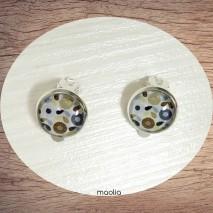 Boucles d'oreilles clips argent Oslo