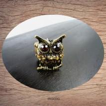 Bague chouette bronze élastique