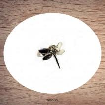 Bague argentée libellule