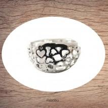 Bague gros anneau filigrané