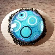 Broche formes géométriques bleues