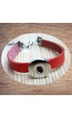 Bracelet cuir pression corail