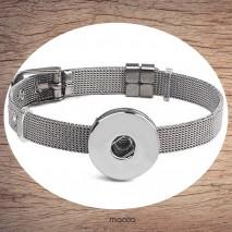 Bracelet acier inoxydable pression