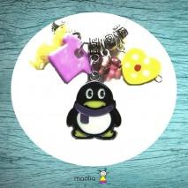 Pingouin émaillé noir et blanc