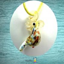 Collier cordon couleur perroquet