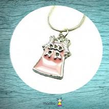 Collier petite robe rose