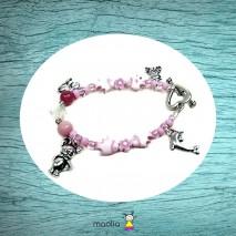Bracelet poissons roses et breloques