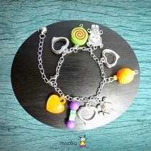 Bracelet bébé et perles de couleur