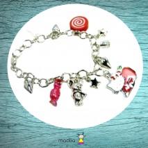 Bracelet petite chatte rouge et souris