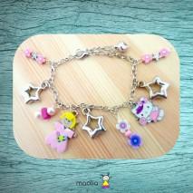 Bracelet rose et violet
