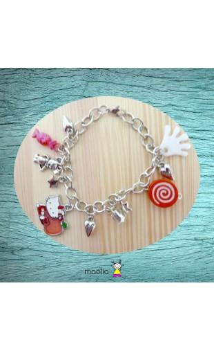 Bracelet blanc et rouge