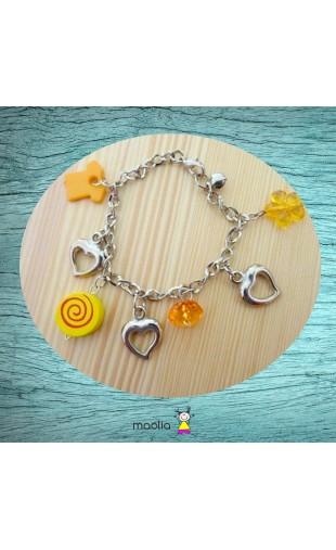 Bracelet jaune et argent