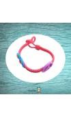 Bracelet tressé rose papillons