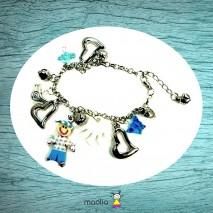 Bracelet petit personnage ton bleu