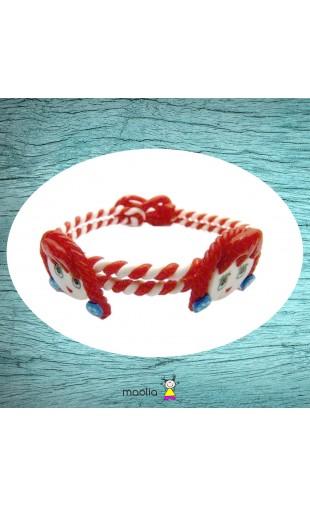 Bracelet tressé rouge fillettes