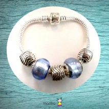 Bracelet Pandamaolia perles bleues