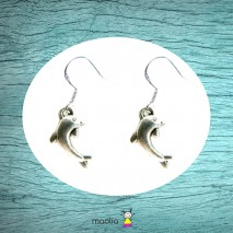 Boucles d'oreilles argent dauphin