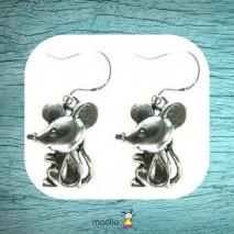 Boucles d'oreilles souris profil