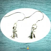 Boucles d'oreilles petit pingouin