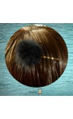 Pince bronze pompon vison