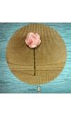 Pince bronze fleur rose