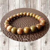 Maolia - Bracelet homme perles de jade dendritique