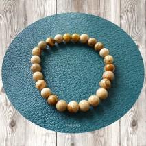 Maolia - Bracelet homme perles de jaspe paysage
