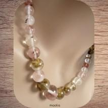 Maolia - Collier en perles en tourmaline