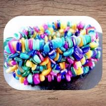 Maolia - Bracelet en nacre multicolore