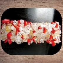 Bracelet en corail blanc et rouge