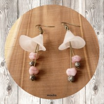 Maolia - Boucles d'oreilles corolle et étamine